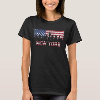 T-shirt Horizon de drapeau américain de New York City