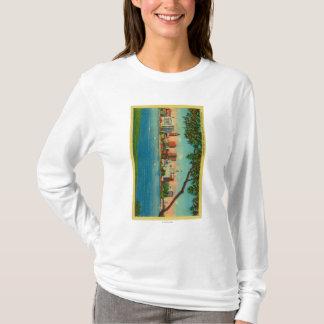 T-shirt Horizon d'Oakland à travers le lac Merritt