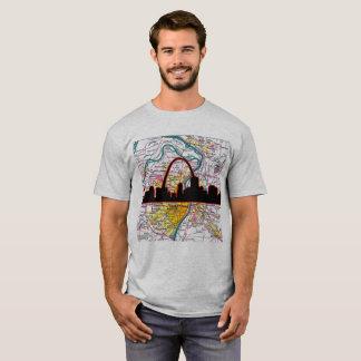 T-shirt Horizon et voûte de St Louis avec la carte de