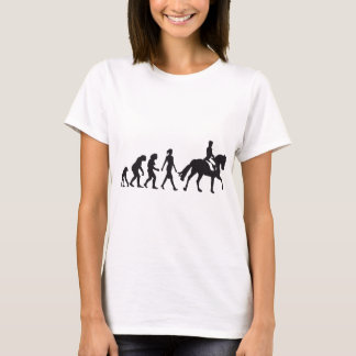 T-shirt horse female plus rider