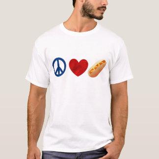 T-shirt Hot dog d'amour de paix