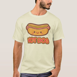T-shirt Hot-dog de Kawaii