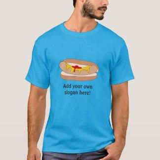 T-shirt Hot-dog en petit pain : Slogan personnalisable