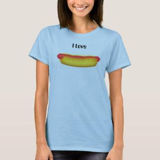 T-shirt Hot dog, j'aime