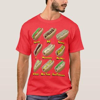 T-shirt Hot-dogs à travers l'Amérique