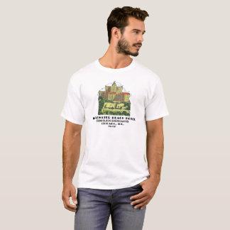 T-shirt Hôtel de plage d'Edgewater, Chicago, l'Illinois
