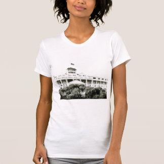T-shirt Hôtel grand, île de Mackinac, noire et blanche