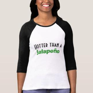 T-shirt Hotter qu'un petit piment vert 3/4 raglan de