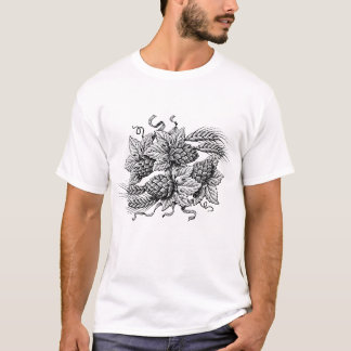 T-shirt Houblon et orge (la pièce en t de l'amant de bière