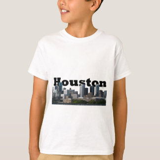 T-shirt Houston, horizon de TX avec Houston dans le ciel