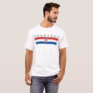 T-shirt Hrvatska de symbole de drapeau de pays de la