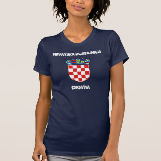 T-shirt Hrvatska Kostajnica, Croatie avec le manteau des
