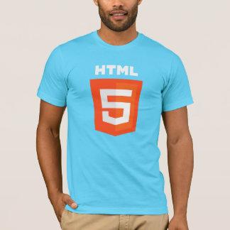 T-shirt HTML5 sur la chemise bleue
