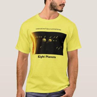 T-shirt Huit planètes et nouveau système solaire,
