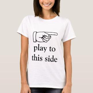 T-shirt humoristique de formation de tennis