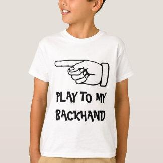 T-shirt humoristique de tennis avec l'énonciation