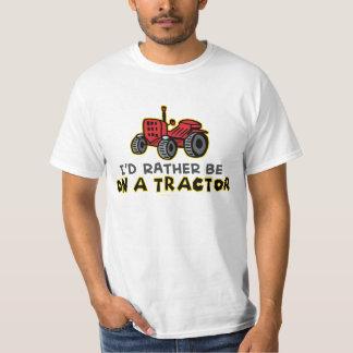 T-shirt Humoristique je serais plutôt sur un tracteur