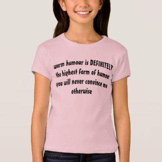 T-shirt humour de ver
