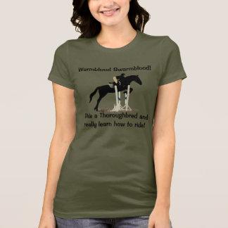 T-shirt Humour drôle de personnes de cheval de pur sang