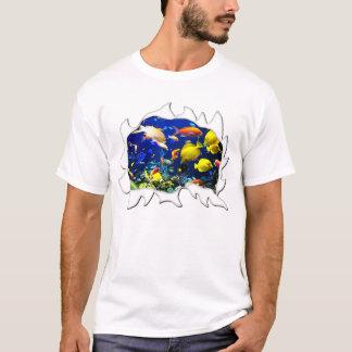 T-shirt Humour drôle déchiré de poissons tropicaux