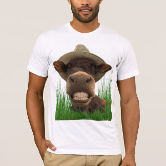 T-shirt humour vache aux dents blanches
