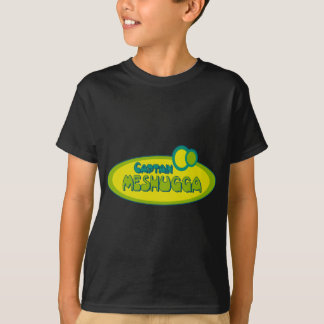 T-shirt Humour Yiddish drôle de CAPITAINE MESHUGGA (fou) -