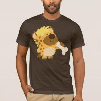 T-shirt Hyène repérée par bande dessinée mignonne écrasant