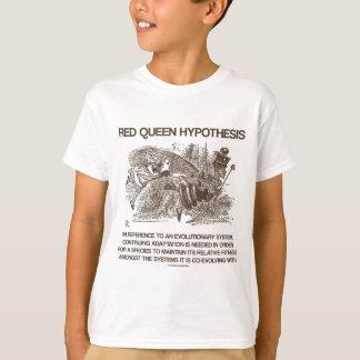 T-shirt Hypothèse rouge de la Reine (pays des merveilles
