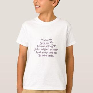 T-shirt I avant des aides de mémoire d'E