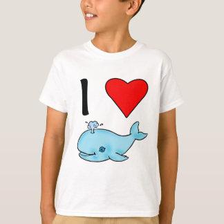 T-shirt I baleines d'amour des baleines I de coeur