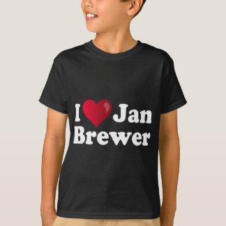 T-shirt I brasseur de janv. de coeur