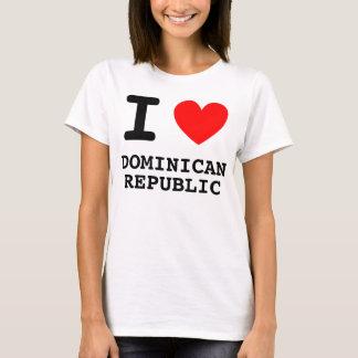 T-shirt I chemise de la République Dominicaine de coeur