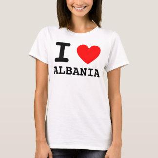 T-shirt I chemise de l'Albanie de coeur