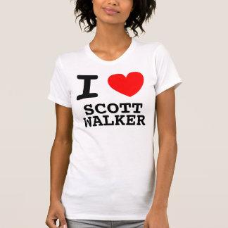 T-shirt I chemise de marcheur de Scott de coeur