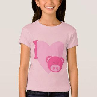 T-shirt I chemises de porcs de coeur
