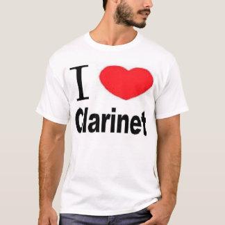 T-shirt I clarinette de coeur