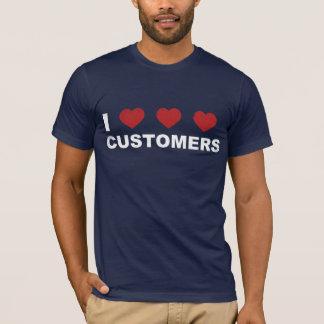 T-shirt I clients de coeur