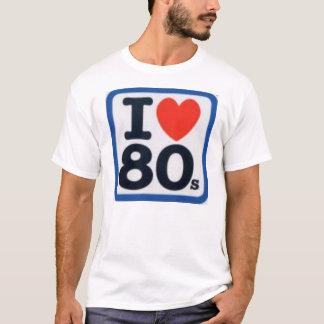 T-shirt I coeur 80s