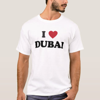 T-shirt I coeur Dubaï Emirats Arabes Unis