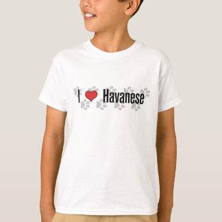 T-shirt I (coeur) Havanese