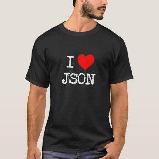 T-shirt I coeur JSON
