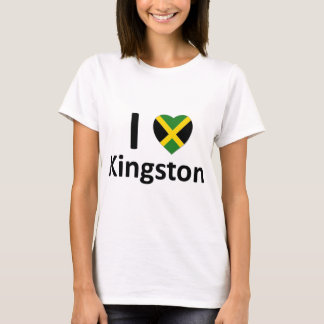 T-shirt I coeur Kingston (Jamaïque)