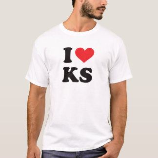 T-shirt I coeur KS - le Kansas