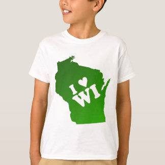 T-shirt I coeur le Wisconsin