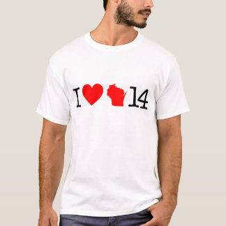 T-shirt I coeur le Wisconsin 14