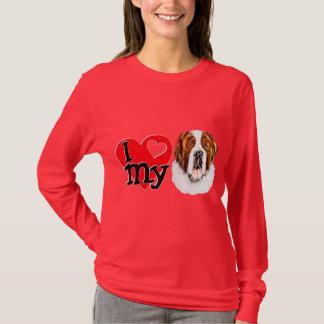 T-shirt I (coeur) mon St Bernard