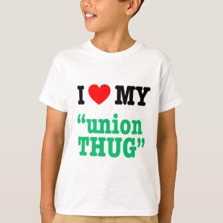 "T-shirt I coeur mon ""voyou des syndicats """