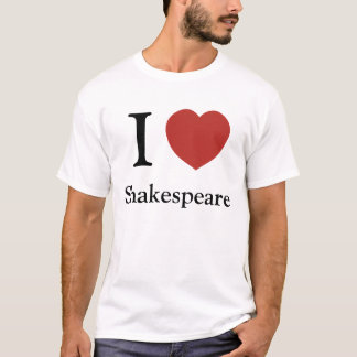 T-shirt I coeur Shakespeare