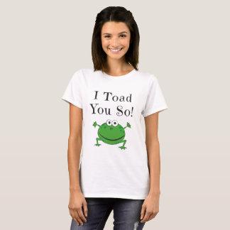 T-shirt I crapaud vous ainsi ! - Conception drôle de
