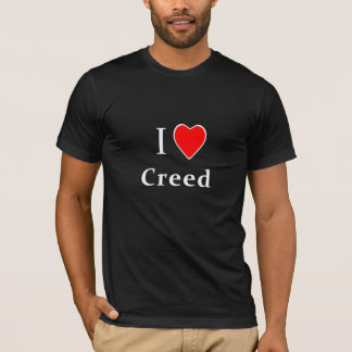 T-shirt I croyance de coeur - chemise foncée